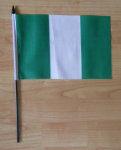 Nigeria Country Hand Flag - Medium.